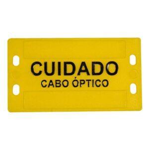 Plaqueta de identificação de cabo óptico